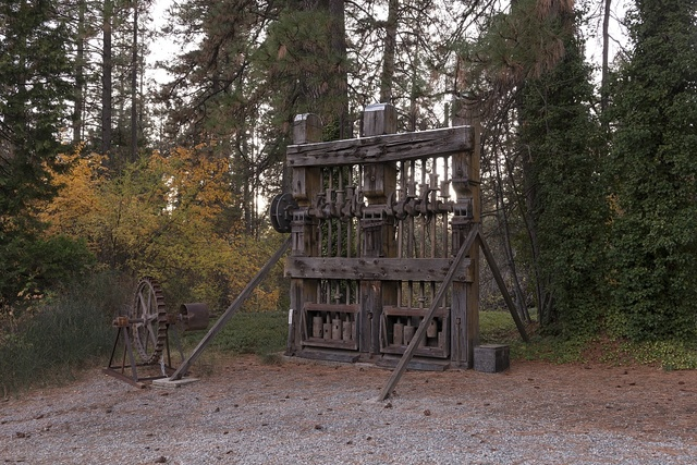 The site of the historic Empire Mine, now a state historic park in Grass Valley, California