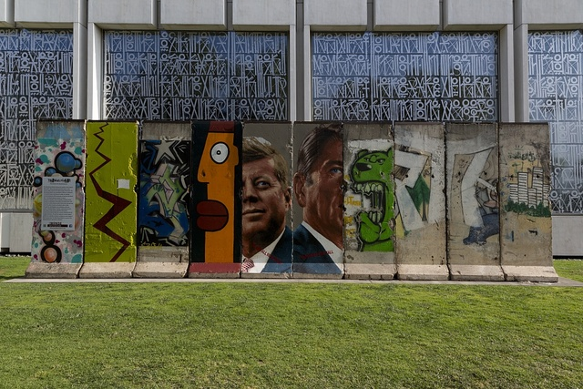 [The Wall Project presented by the Wende Museum. Portions of the Berlin Wall, Los Angeles, California]