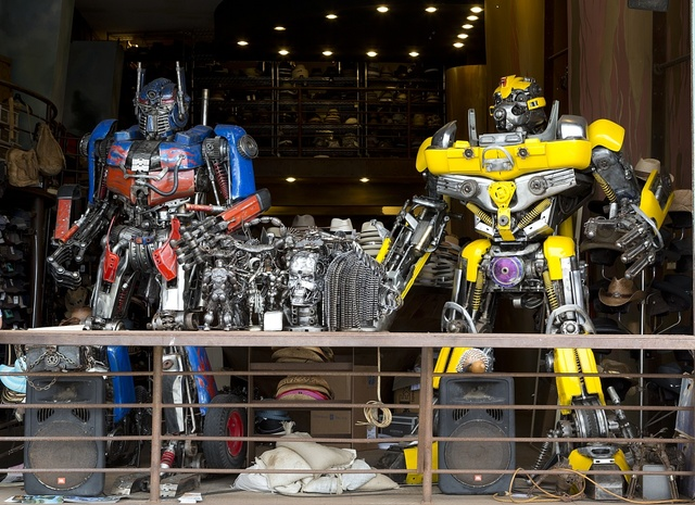 Transformers in Titanic store in Venice, a beachfront district on the Westside of Los Angeles, California