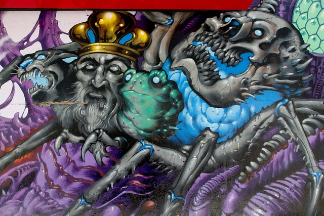 [Untitled mural by Lango located in the Haight-Ashbury neighborhood, San Francisco, California]