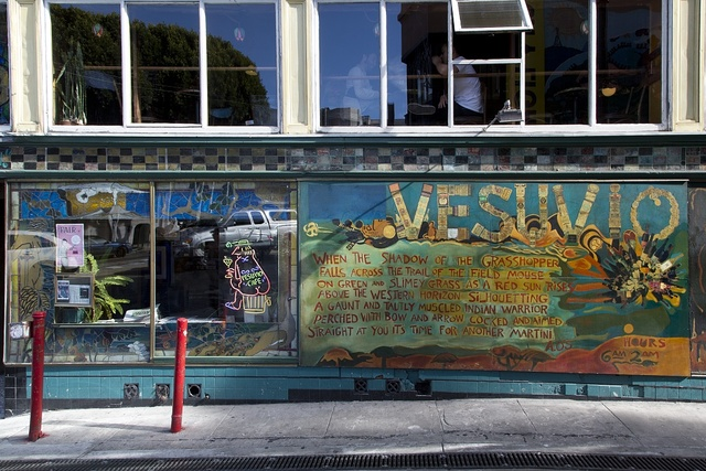 Vesuvio mural near City Lights Bookstore, San Francisco, California