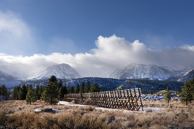 View of mountains, Mammoth Lakes, California