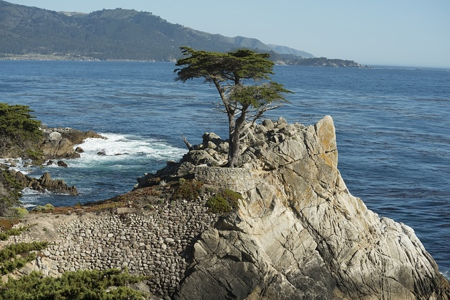 Views from 17-Mile Drive, a scenic road through Pacific Grove and Pebble Beach on the Monterey Peninsula in California