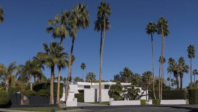 A house in Palm Springs, California, that was once the winter home of Hollywood movie stars Goldie Hawn and Kurt Russell