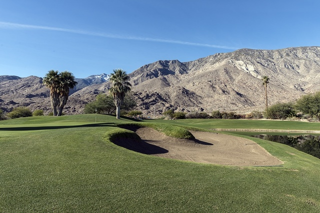 A portion of the Indian Canyons Golf Resort, once the Canyon Country Club, a favorite haunt of local winterime residents Frank Sinatra, Bob Hope, and Jackie Gleason in Palm Springs, California