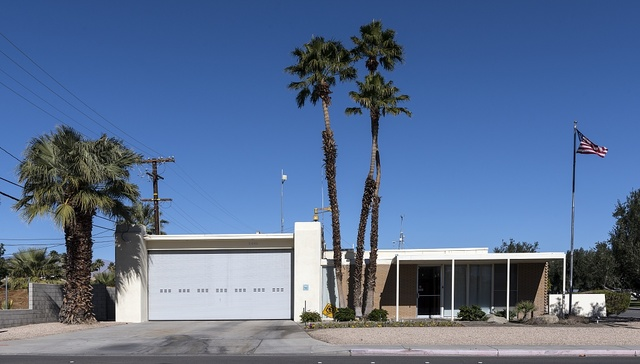 Architect Hugh Kaptur's low-slung, modernist Fire Station No. 3, completed in 1964 in Palm Springs, California