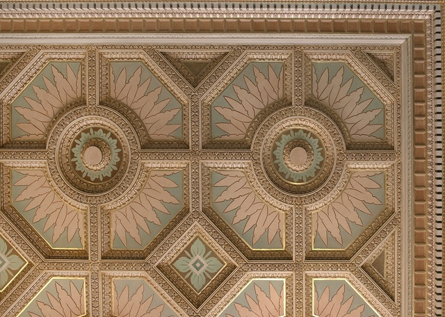 Ceiling detail at the Texarkana U.S. Post Office and Federal Building