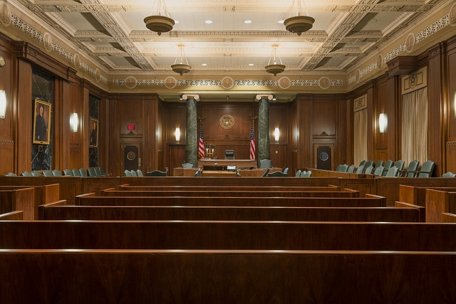 Courtroom. The Jack Brooks Federal Building in Beaumont, Texas