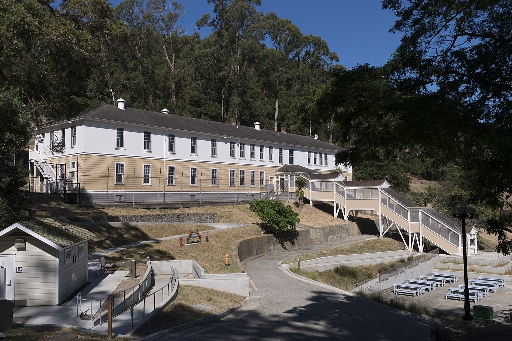 Detention Center at Angel Island, an island in San Francisco Bay that offers expansive views of the San Francisco skyline, the Marin County Headlands and Mount Tamalpais