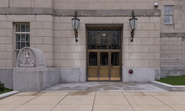 Doorway, Federal Building and U.S. Court House, Peoria, Illinois