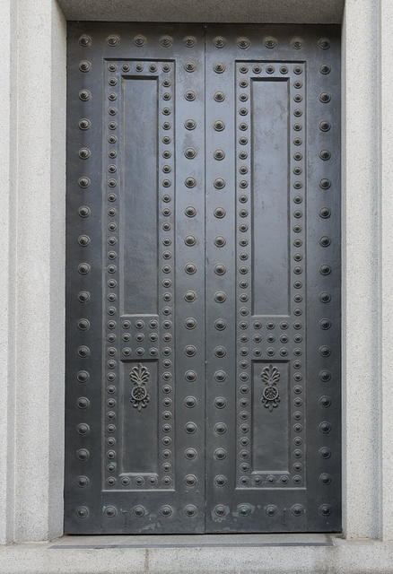 Exterior door. U.S. Custom House, East Bay and Bull Streets, Savannah, Georgia