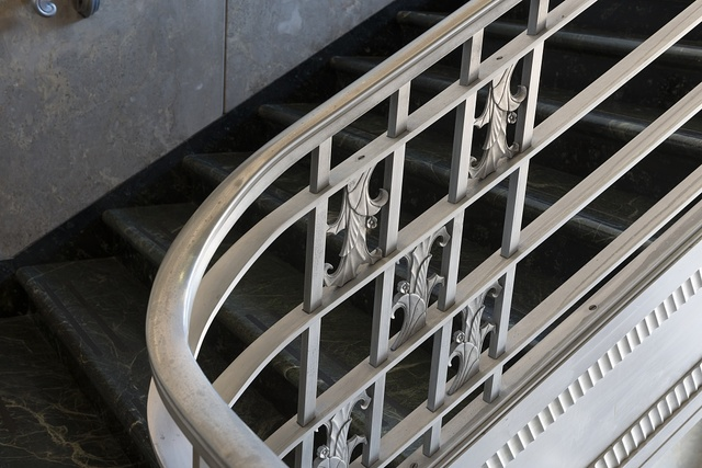 Interior stairway detail. The Joel Solomon Federal Building and U.S. Courthouse, Chattanooga, Tennessee