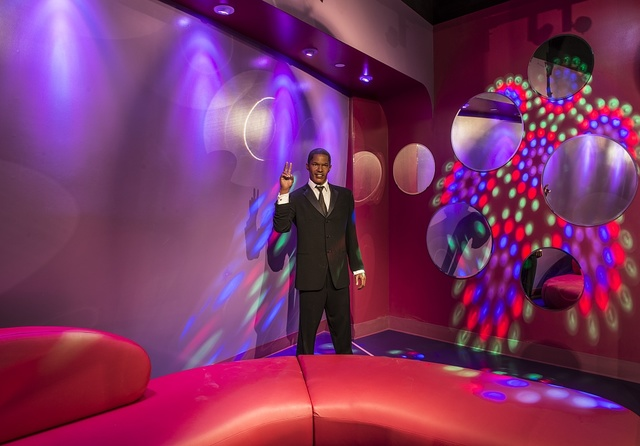 Likeness of actor Jamie Foxx at Madame Tussaud's Wax Museum in the Hollywood section of Los Angeles, California
