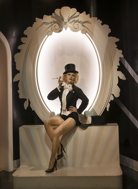 Likeness of movie star Marlene Dietrich at Madame Tussaud's Wax Museum in the Hollywood section of Los Angeles, California