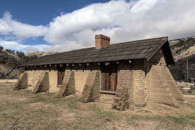 Officers' quarters at Fort Tejon, a California State Historical Park, in Grapevine Canyon on the main route between California's central valley and Southern California