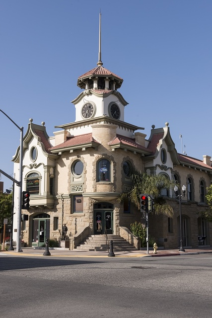 """Old City Hall in Gilroy, California, the """"Garlic Capital of the World"""""""