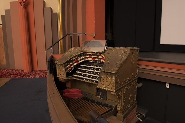 Organ in Avalon theater at the Catalina Casino, built on the site formerly known as Sugarloaf Point on Catalina Island off the coast of California