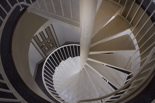 Stairs at the Mississippi River Commission building, Vicksburg, Mississippi