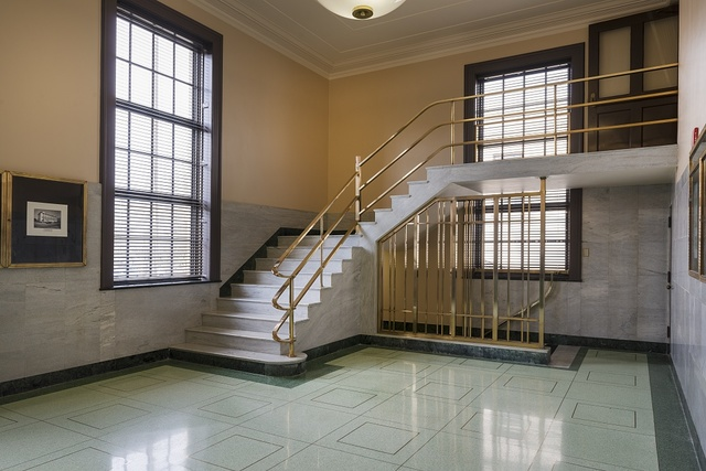 Stairway at the Winston E. Arnow U.S. Post Office and Court House, Pensacola, Florida