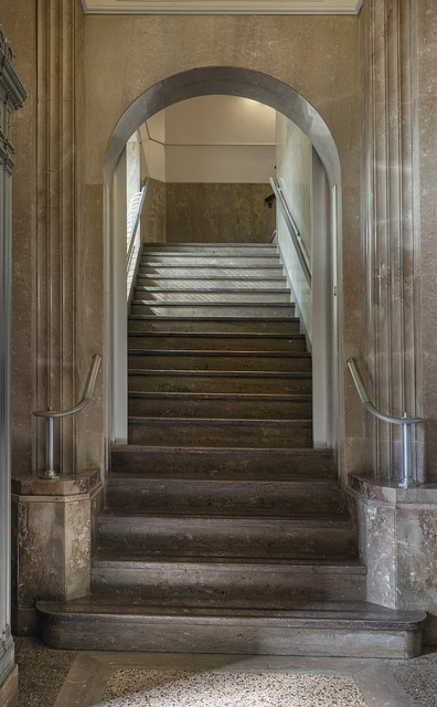 Stairway. The Jack Brooks Federal Building in Beaumont, Texas