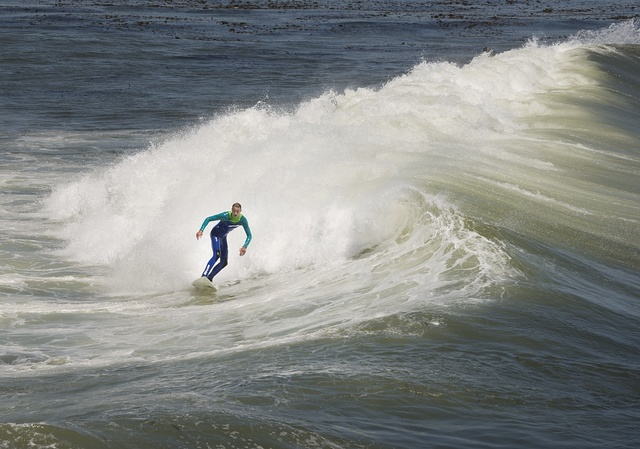 Surfer in Montecito, California