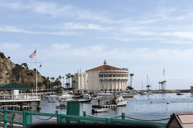 The Catalina Casino, built on the site formerly known as Sugarloaf Point on Catalina island off the coast of California