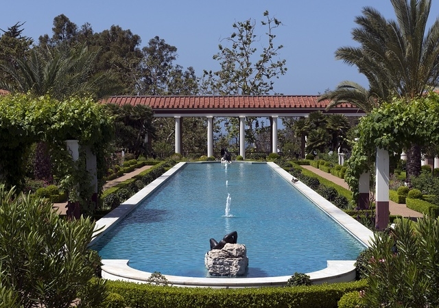 The Getty Villa in the Pacific Palisades neighborhood of Los Angeles, California