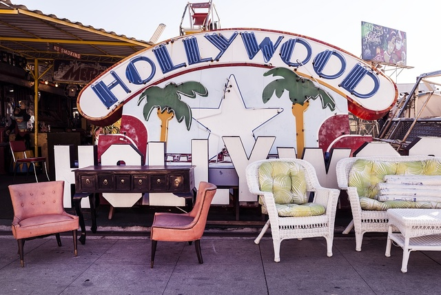 "This is art of a sort, but not exactly either private or public. It was photographed at the ""Nick Metropolis Collectible Furniture"" facility, a sort of boneyard for discarded advertising and art figures in Los Angeles, California"
