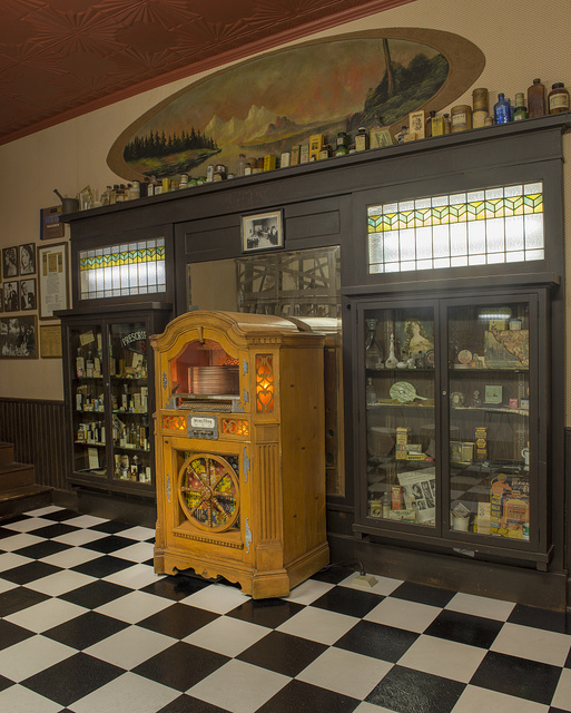A jukebox inside the period soda fountain at the East Texas Oil Museum, in Kilgore, Texas