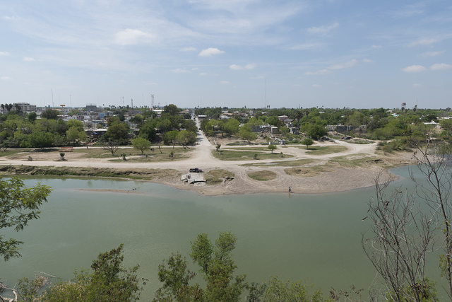 A look at Mexico from bluffs above Roma, a small but historic city along the Rio Grande River in Starr County, Texas