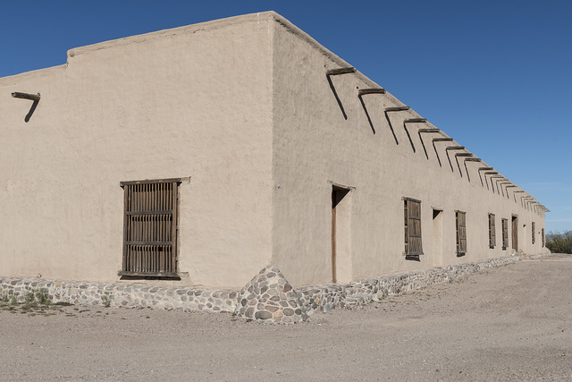 A portion of Fort Leaton, a Texas State Historic Site, on the edge of Presidio, along the Rio Grande River in Brewster County, Texas