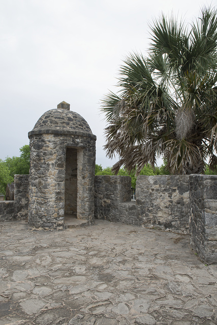 A portion of the Presidio Nuestra Senora de Loreto de la Bahia, known more commonly as Presidio La Bahia, or simply La Bahia, a fort constructed by the Spanish Army that became the nucleus of the city of Goliad, Texas