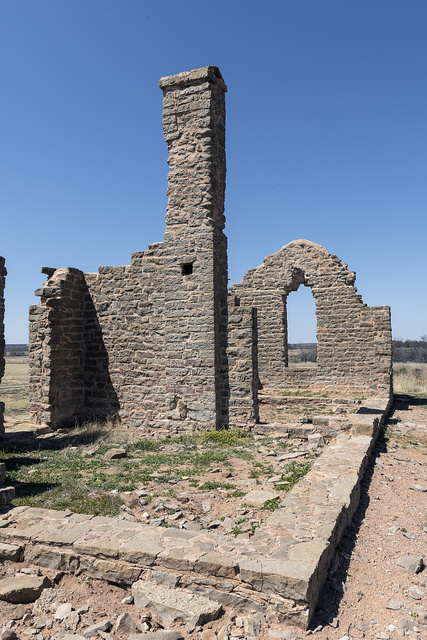 A yet-to-be-restored ruin at U.S. Army's frontier post of Fort Griffin, now a National Park Historic Site in Shackelford County, Texas