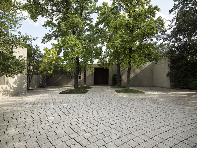 Acclaimed international architect I.M. Pei designed this modernist home in the Westover section of Fort Worth, Texas