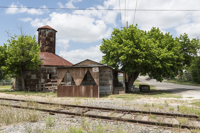 An old cotton gin in the town of Grand Saline in Van Zandt County in East Texas