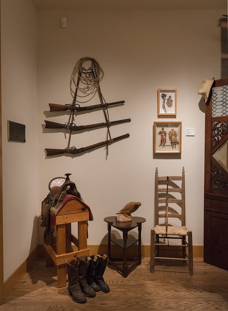 An Old West display at the Old Jail Art Center in Albany, Texas, seat of Shackelford County