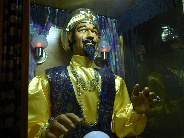 Animated fortune teller at the Ripley's Believe It Or Not attraction in Grand Prairie, Texas