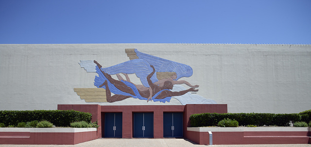 Art deco relief, one of many at Fair Park, site of the 1936 Texas Centennial celebration and the Pan-American Exposition in 1937 in Dallas, Texas