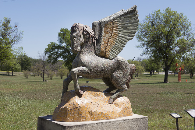 Art installation at the Hanna Springs Sculpture Garden in Lampasas, Texas