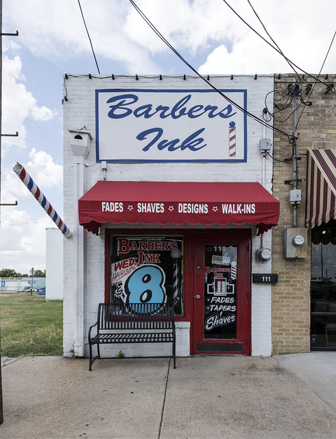 Barber shop in downtown Mesquite, Texas