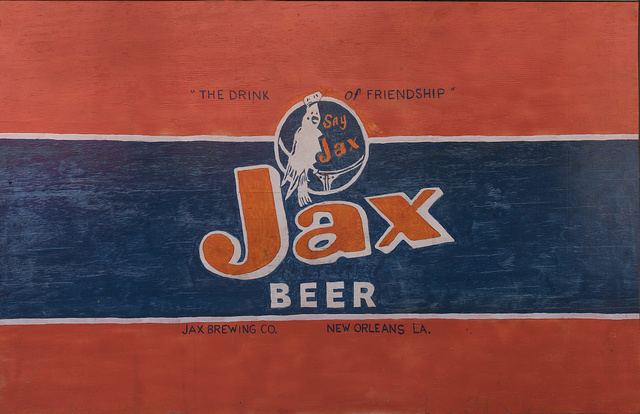 """Beer sign (""""Jax Beer"""") inside Lil' Red's Longhorn Saloon in the Stockyards District of Fort Worth, Texas"""
