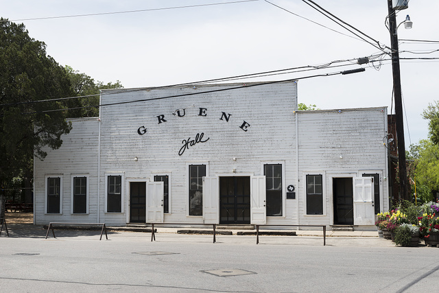 Built by Christian Herry in 1878, Gruene Hall in New