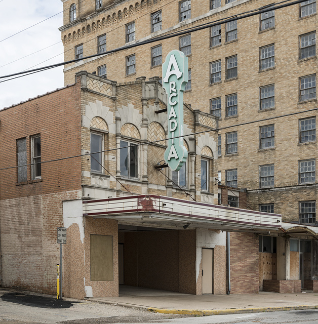 Built in 1928, the Arcadia Theater was designed with a Spanish-atmospheric style interior. Temple, Texas