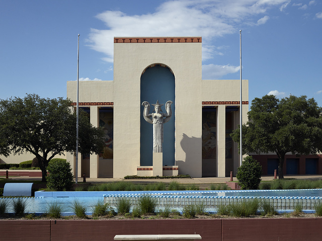 Centennial Hall at Fair Park, site of the 1936 Texas Centennial celebration in Dallas, Texas