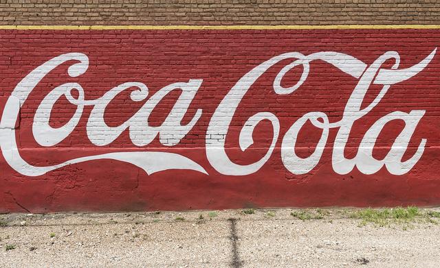 [Coca Cola advertising mural, Grand Saline, Texas]