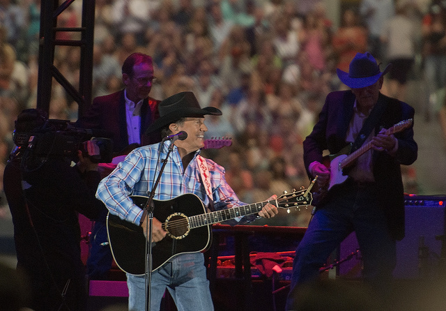 Country music legend George Strait, photographed (in 2014) at what was announced as the final tour performance of his long career