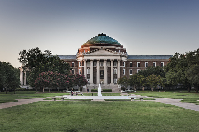 Dallas Hall on the campus of Southern Methodist University, Dallas, Texas