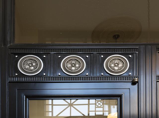 Details over interior door. U.S. Courthouse, El Paso, Texas