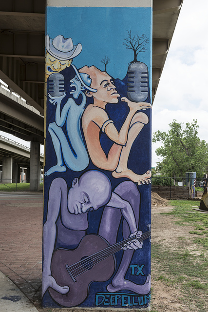 Distinctive street art in Deep Ellum, a neighborhood composed largely of arts and entertainment venues near downtown in Old East Dallas, Texas