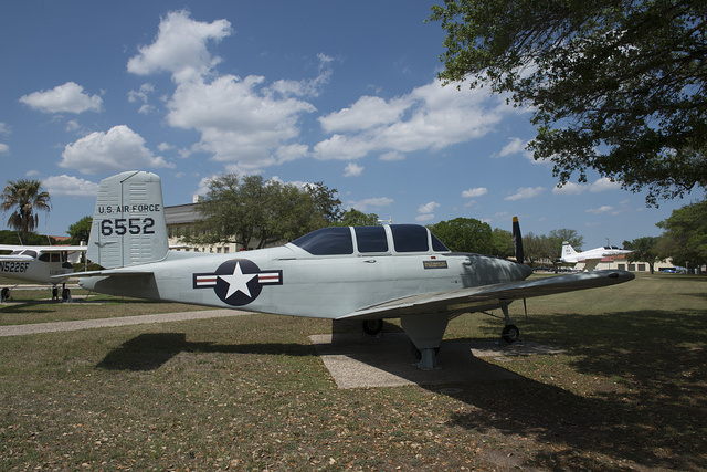Exhibit in the Air Heritage Park, dedicated in 1985 at Randolph Field, now Randolph Air Force Base, part of the U.S. Military's Joint Base San Antonio, Texas